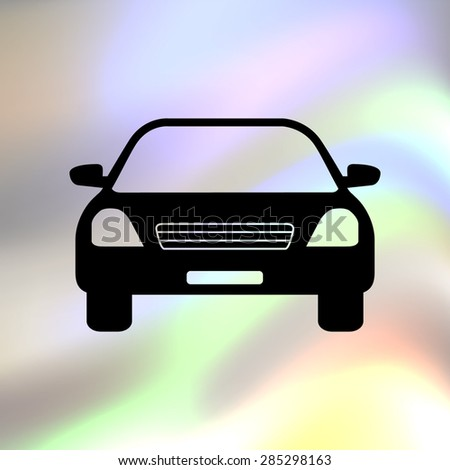 car black vector icon - stock vector