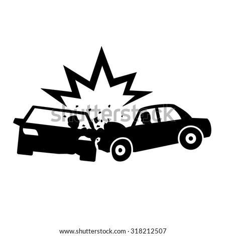 Car Crash icons vectors - stock vector