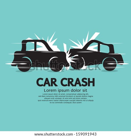 Car Crash Vector Illustration EPS10 - stock vector