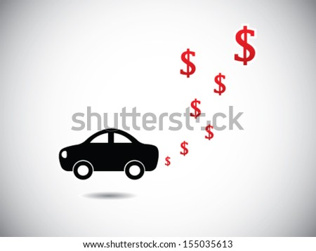 Car Expenditure - stock vector