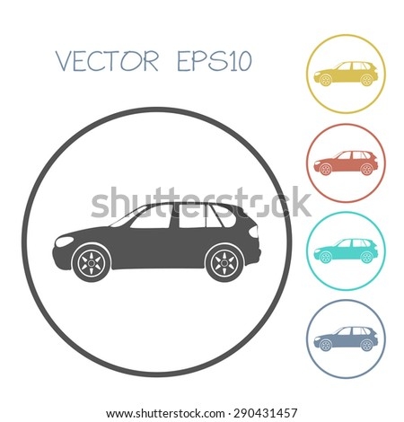 car flat icon. vector illustration - stock vector