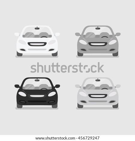 Car front view vector - stock vector