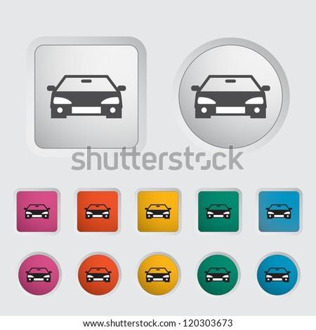 Car icon, black silhouette. Vector illustration EPS 8. - stock vector