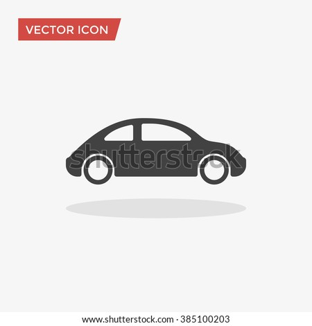 Car Icon in trendy flat style isolated on grey background. Automobile symbol for your web design, logo, UI. Vector illustration, EPS10. - stock vector