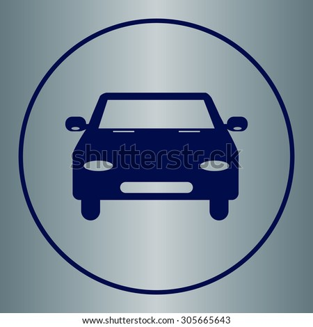 car icon, vector illustration. Flat design style - stock vector