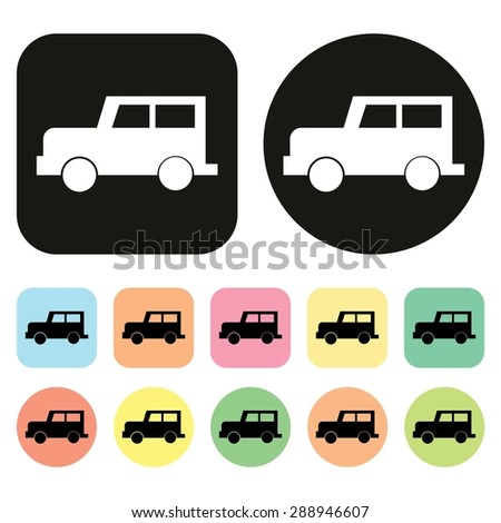 Car icon. Vehicle icon. Transportation icon. Vector - stock vector