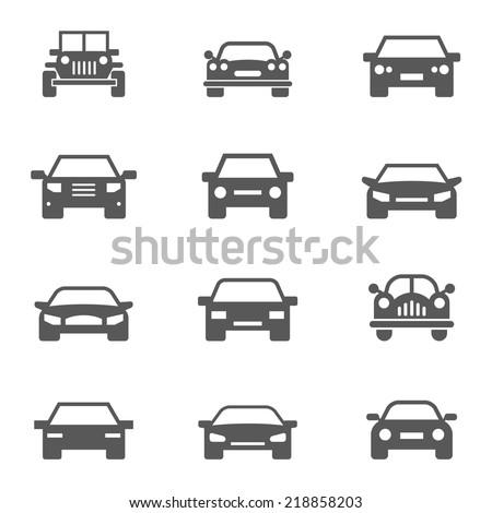 Car icons set. - stock vector