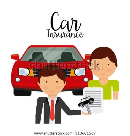 car insurance design, vector illustration eps10 graphic  - stock vector