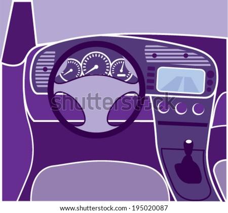 Car Interior Vector - stock vector