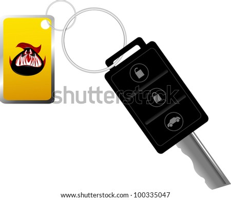 Car key on the remote control. Alarm. The vector-illustration; - stock vector