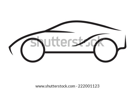 Car line art - stock vector