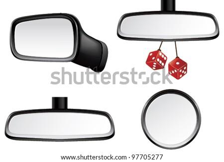 Car mirror set - stock vector
