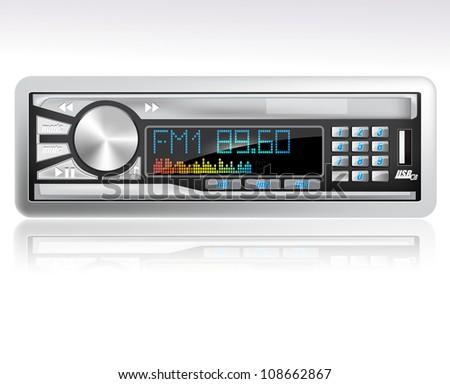 Car mp3 player eps10 - stock vector