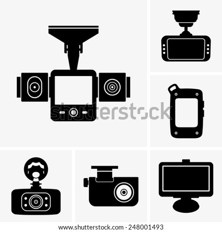 Car navigators & DVRs - stock vector