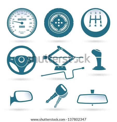 Car parts - vector illustration - stock vector
