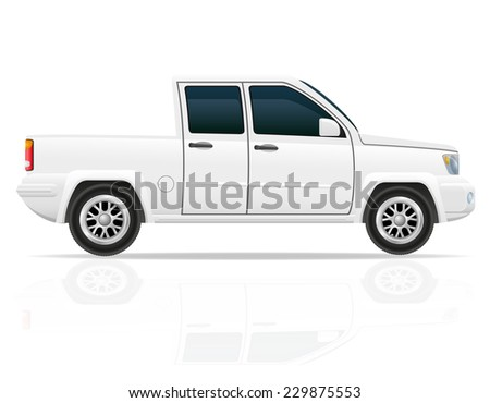 car pick-up vector illustration isolated on white background - stock vector