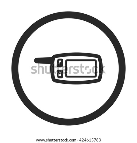 Car remote control sign simple icon on  background - stock vector