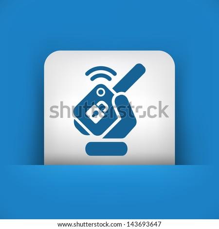 Car remote key - stock vector