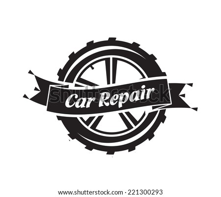 Car Repair. Vector format - stock vector