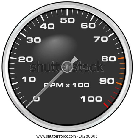 car rotations clock - stock vector