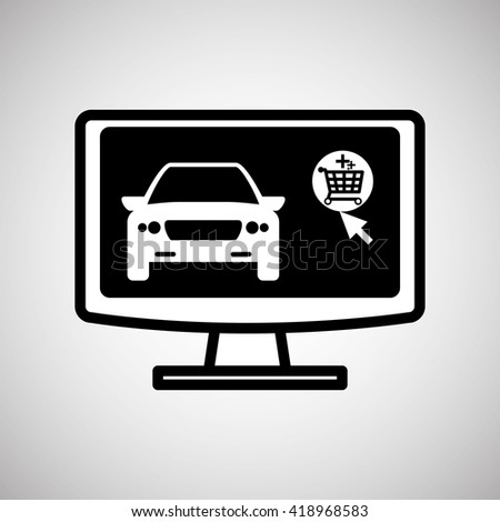 Car sale design. sale concept. white background - stock vector