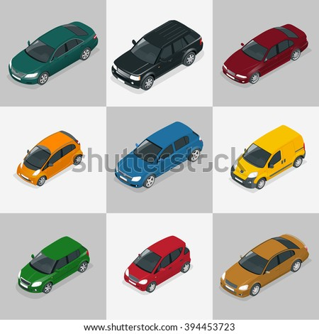Car Sedan, Car set, Car colorise, Car isolated, Car Flat, Car isometric, Car high quality city transport, Car Drawing, Car auto, Car icon, Car automobile, Car Art, Car Image, Car Object, Car Image - stock vector