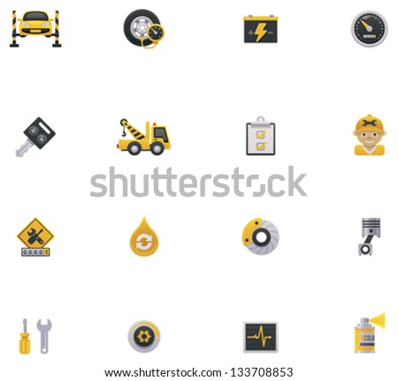 Car service icon set. Part 1 - stock vector