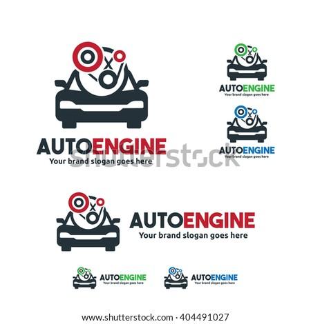 Car Service Logo, Car fix engine symbol - stock vector