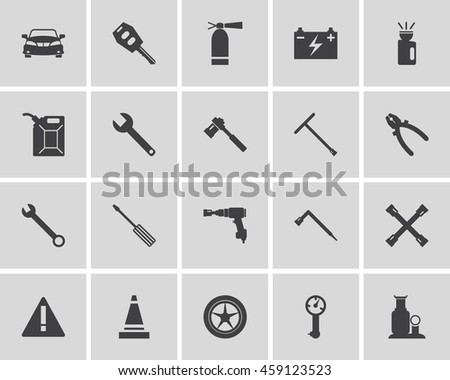 Car service maintenance icon set. Vector illustration. - stock vector