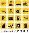 Car service & repair icons - stock vector