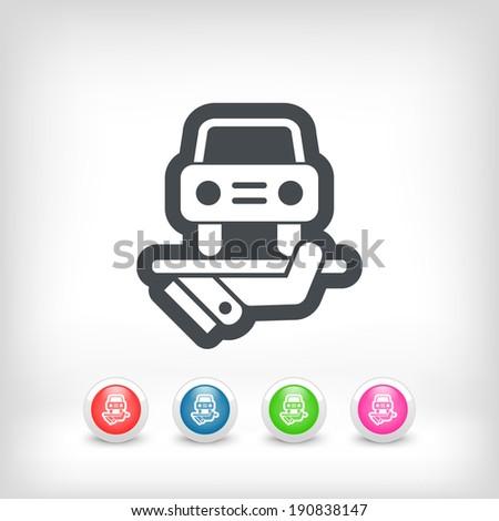 Car services icon - stock vector