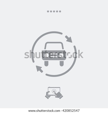 Car services renew icon - stock vector