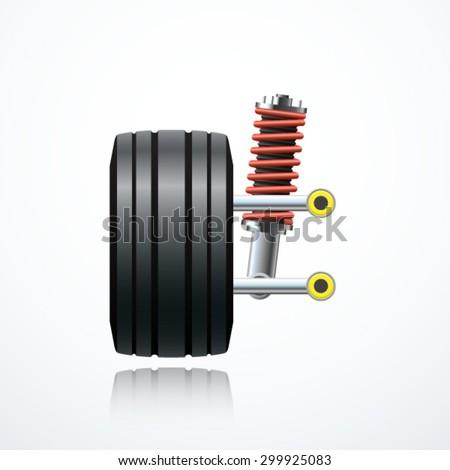 Car suspension - stock vector