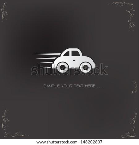 Car symbol,vector - stock vector