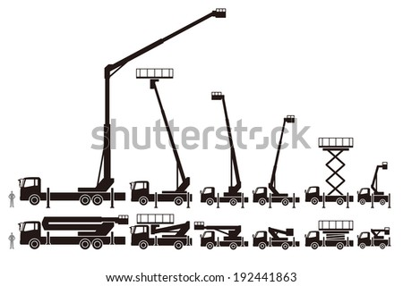 Car to work the high altitude - stock vector