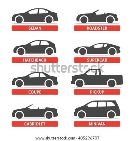 cars body types stock vectors vector clip art shutterstock. Black Bedroom Furniture Sets. Home Design Ideas