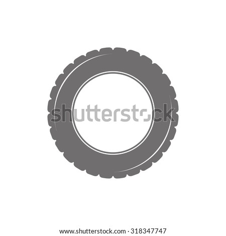 Car tyre icon on white background - stock vector
