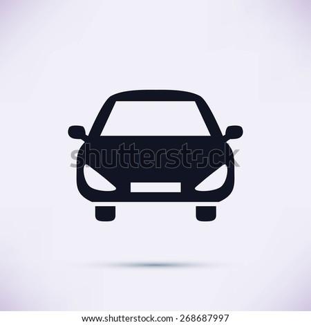 car vector icon - stock vector