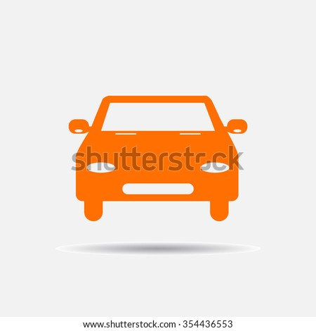 Car vector illustration. Flat design style. - stock vector