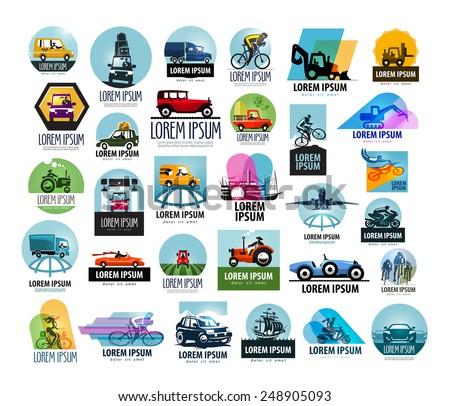 car vector logo design template. transport or vehicle icon. - stock vector