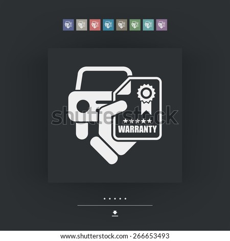 Car warranty icon - stock vector