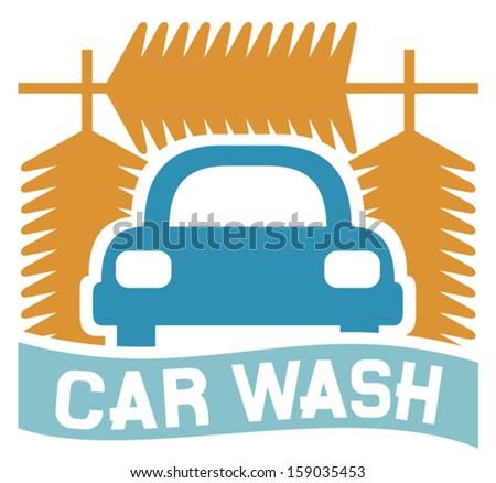 car wash sign (car wash icon, car wash symbol) - stock vector