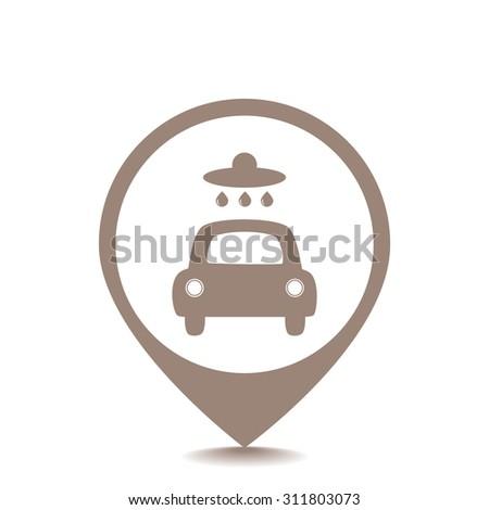 Car wash vector icon - stock vector