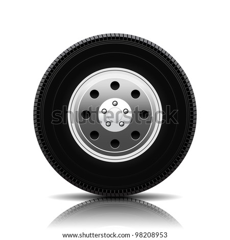 Car Wheel, vector eps10 - stock vector