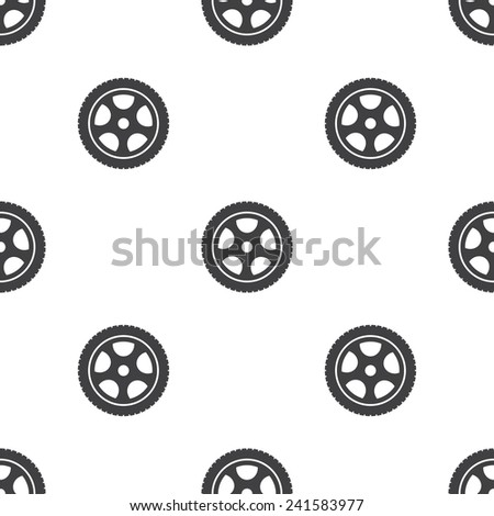 car wheel, vector seamless pattern, Editable can be used for web page backgrounds, pattern fills   - stock vector