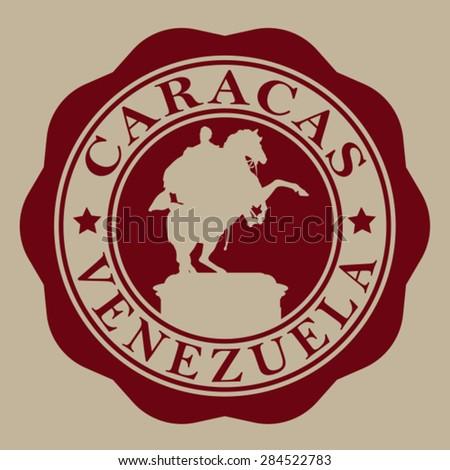 Caracas Venezuela Seal - stock vector