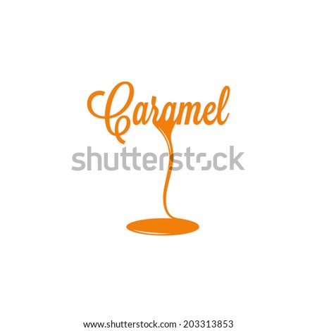 caramel isolated sign - stock vector