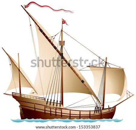 Old Sailing Ship Stock Vectors & Vector Clip Art ...