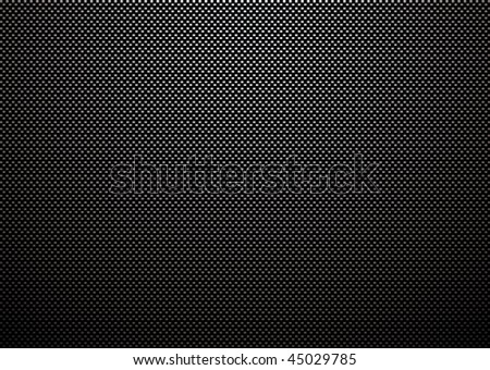 Carbon fiber weave with light reflection and black background - stock vector