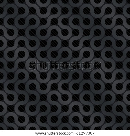 Carbon flow background (editable seamless pattern) - stock vector